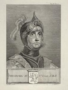 Portret van Dirk IV van Holland ( -1049)