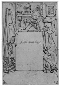 Titelblad voor figuurstudies van Willem Buytewech