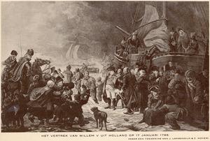 Het vertrek van Willem V van Oranje uit Holland, 17-1-1795