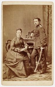 Portret van  Ferdinand Gustaaf Adolf Huber (1851-1917) en Louise Brugsma (1854-1892)