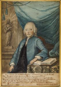 Portret van Joannes Badon (1706-1790)
