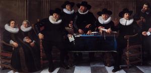 Groerpsportret van de Regenten van het Oude Mannen- en Vrouwengasthuis te Amsterdam