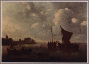 Vissersboten voor de kust