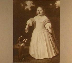 Portret van een meisje met een hond