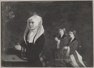 Portret van Lijsbet Boogaert (1473-1557) en twee dochters