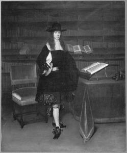 Portret van Gosewijn (Theophilus) Hogers (1636-1676), echtgenoot van Freda Quadacker