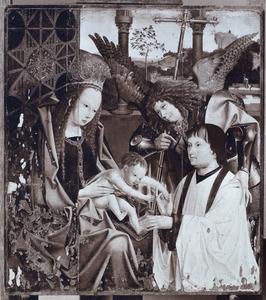 Maria met kind en de aartsengel Michaël met stichter