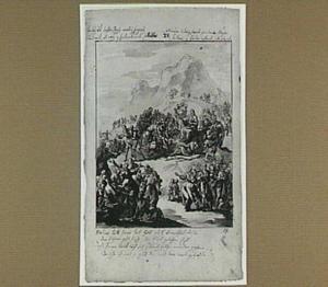 Christus geneest de zieken op de berg bij het meer van Galilea (Mattheüs 15:29-32)