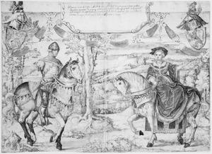 Dubbelportret van Hendrik I van Nassau (?-1343) en Adelheid van Heinsberg-Blankenheim (?-?)