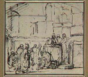 Christus geneest tijdens de Sabbat de man met de verdorde hand (Mattheüs 12:9-13)