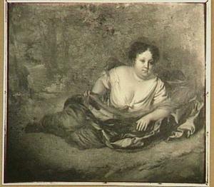 Portret van Elisabeth Talliarde (1654-1689) als bosnimf
