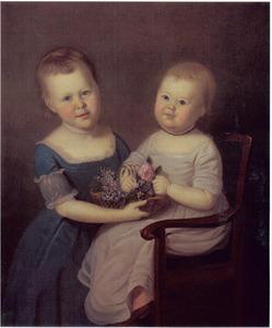Portret van Catherine en Elizabeth Hall