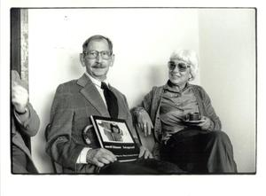Portret van Carel Blazer en Eva Besnyö