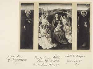 H. Antonius (linkerluik); Madonna met musicerende engelen (middendeel); H. Nicolaas van Tolentino (rechterluik)