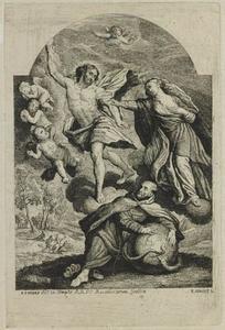 De Heilige Franciscus van Assisi beschermt de mensheid tegen de toorn van Christ