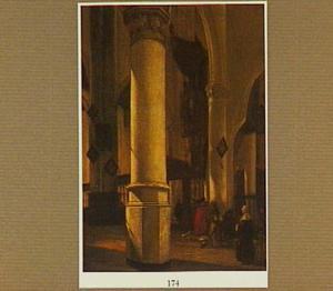Interieur van de Oude Kerk te Delft