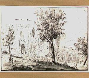 Ruïne van kasteel Brederode, gezien vanuit het oosten