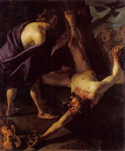 Marsyas door Apollo gevild
