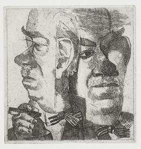 Tweemaal portret J.H. Moesman