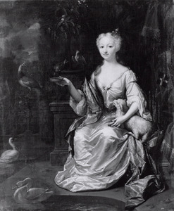 Portret van Sara Philippine Hoeufft (1701-1761)