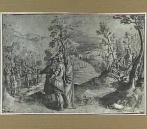 De sibylle voert Aeneas naar de Elysische velden, waar zijn vader hem de helden van zijn nageslacht toont (Aeneis 6)