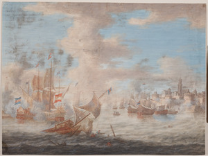 Zeegevecht voor de kust