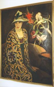 Damesportret met lelies