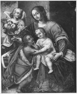 Maria met kind, Johannes de Doper en een engel