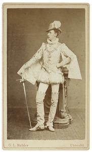 Portret van Reep Boudewijn Ambrosius ver Loren van Themaat (1856-1884) als Heer van Heijst