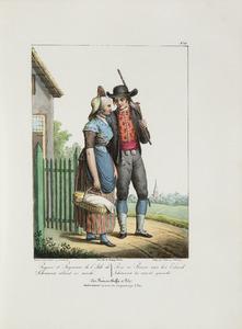 Boer en boerin van Schouwen op weg naar de markt