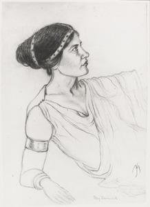 """Portret van Henriëtte Constance Demmink (1890-1984) als Hermia in """"Een midzomernachtsdroom"""""""
