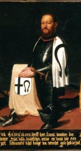 Portret van landcommandeur Frans van Loo