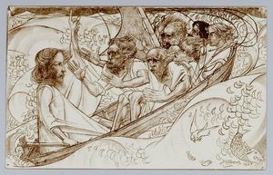Christus en de discipelen in de storm