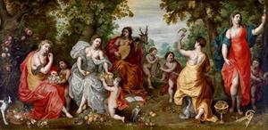 Allegorie op de vijf zintuigen