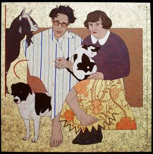 Dubbelportret van Maarten Biesheuvel (1939-) en Eva Gütlich (1938-)