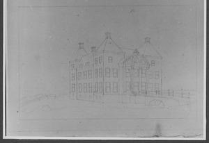 Linker- en voorzijde van het nieuwe huis Berkenrode