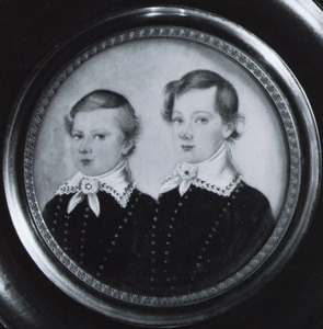 Portret van Jhr. Tinco Martinus Lycklama à Nijeholt (1837-1900) en Jhr. Augustinus Lycklama à Nijeholt (1842-1906
