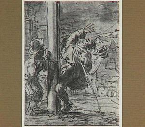 Lazarillo's geslaagde wraakneming op de blinde bedelaar (Lazarillo de Tormes dl. 1, cap. 5, p. 15)