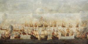 Zeeslag, mogelijk de Slag bij Ter Heijde in augustus 1653