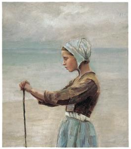 Nederlands meisje op het strand