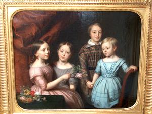Portret van vier kinderen van Theodoor Muller Massis (1810-1887) en Catharina Maria Justina van Dam (1804-1878)