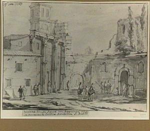 Rome, het Forum van Augustus metde Arco de' Pantani en de San Basilio-kerk