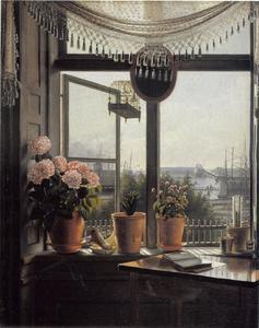 Uitzicht vanuit het raam van de kunstenaar