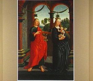 De H. Johannes de Evangelist en Maria met kind
