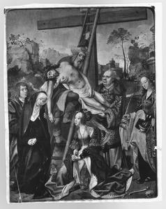De kruisafneming met de H. Barbara