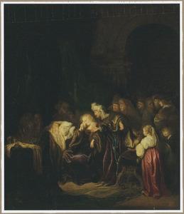 David troost de om hun gestorven oudste zoon treurende Batseba (2 Samuëll 12:24)