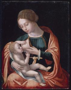 Maria het kind de borst gevend