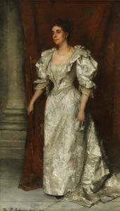 Portret van Christine Auguste Leiden (1855-1939)