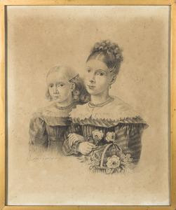 Portret van Jenny Stadnitski (1814-1868) en Maria Stadnitski (1817-1851)
