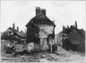 Gezicht op het oude dorp van Scheveningen